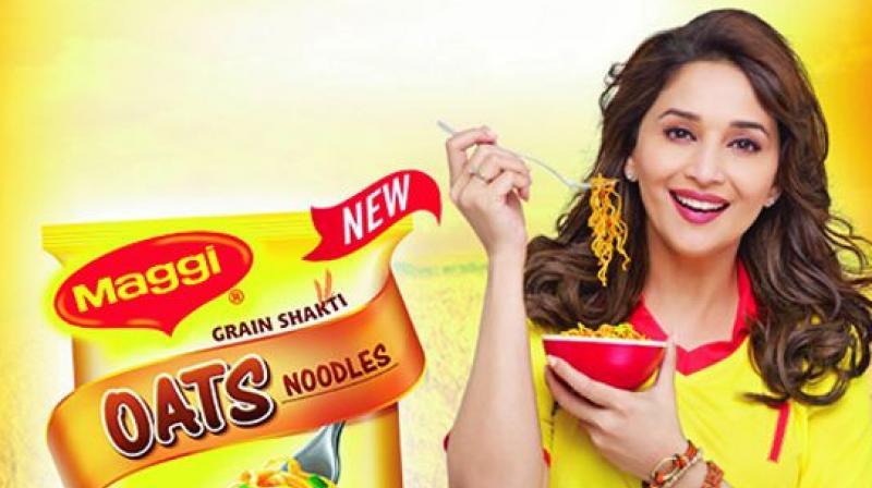 Madhuri Dixit endorsing Nestle product Maggi