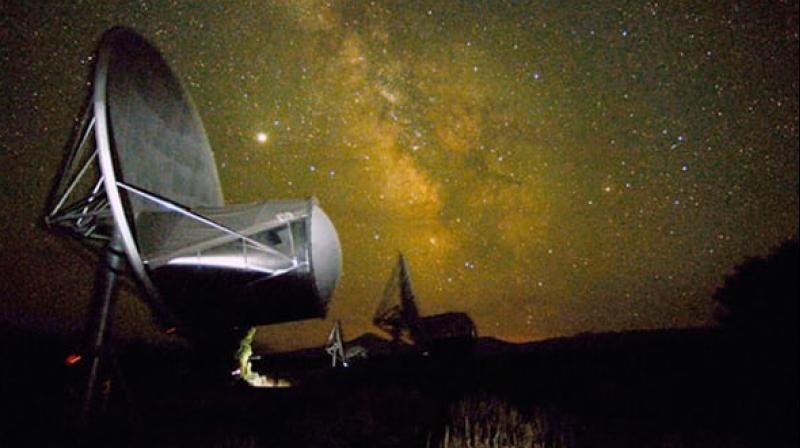 SETI's Allen Telescope Array (ATA) which detected the signal last year. (image:SETI)