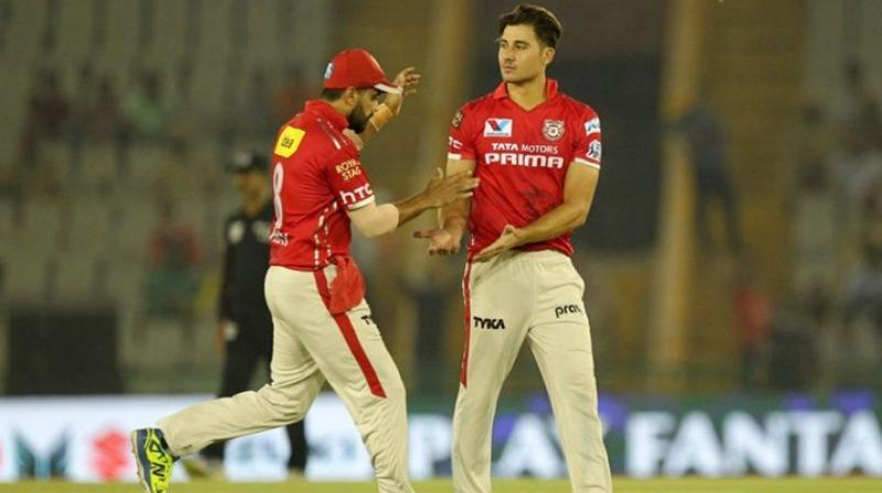 Marcus Stoinis had notched up a total of 146 runs in his five innings and bagged eight wickets for the Kings XI Punjab. (Photo: BCCI)