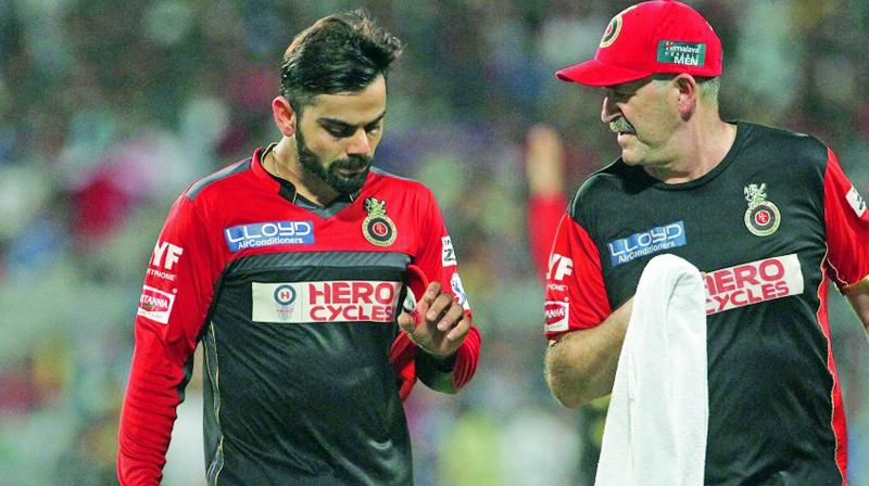 Virat Kohli who sustained a split webbing during the match against KKR has been declared fit. (Photo: BCCI)