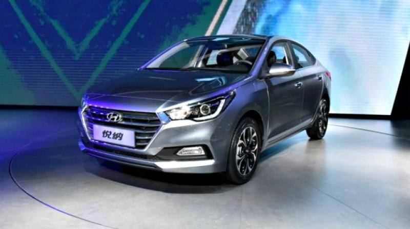 The New Verna Embraces Hyundais Fluidic Sculpture 20 Design Language As Seen In Its Concept
