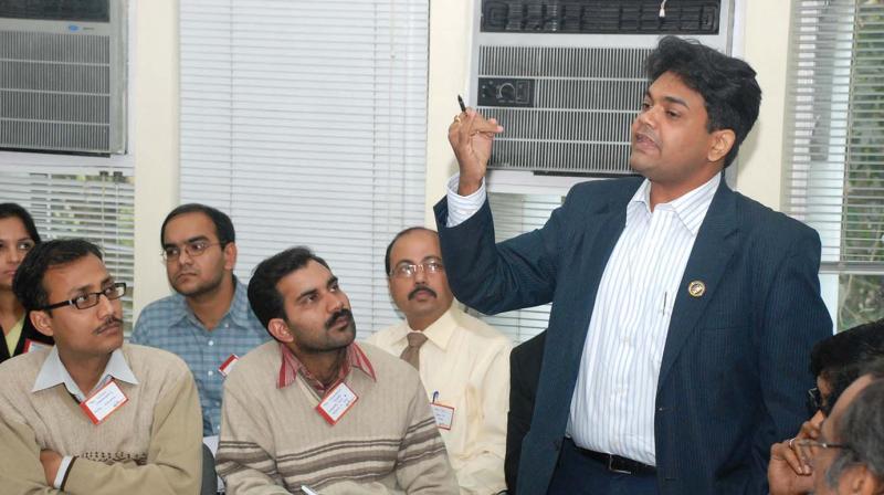 Members of the Wadhwani Foundation conducting entrepreneurship workshops in the city.