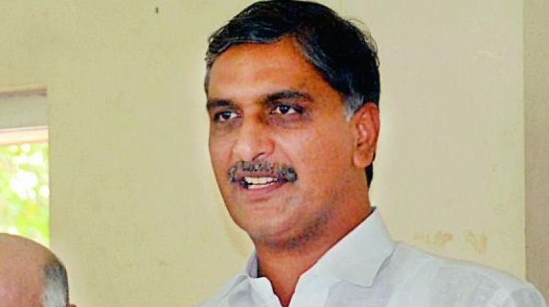 Irrigation minister T. Harish Rao