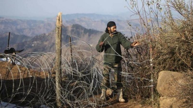 An Army man works near the Line of Control, in Jammu and Kashmir. (Photo: PTI)