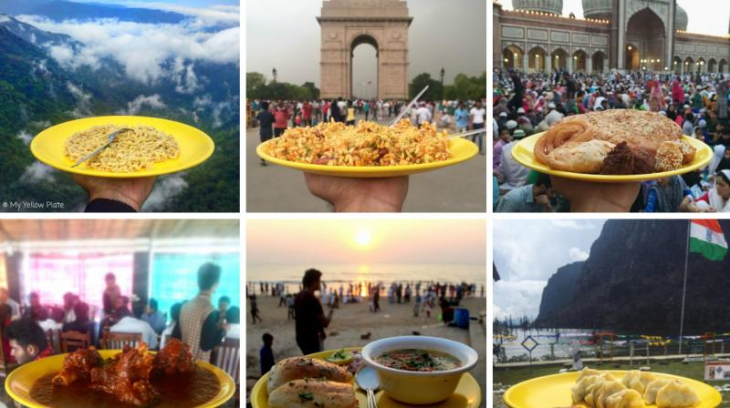 For Delhi guy Himanshu Sehgal, his love for food had led him to travel various parts of India along with his constant companion – his favourite yellow plate. He now has popular Instagram page called 'My Yellow Plate' on which he shares pictures of the different types of food he gets to try, served on his yellow plate. (Photo: Instagram/ myyellowplate)