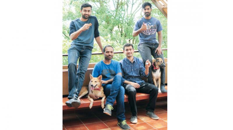 Vignesh, Kiran, Guruprasad and Pravin  — The Gida team