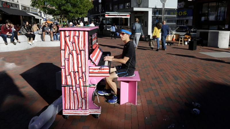 """It sounds pretty good,"" said the 23-year old accordionist (Photo: AP)"
