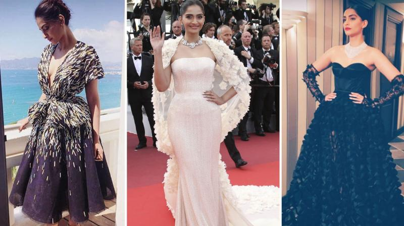 Sonam Kapoor picked Ralph and Russo outfitsfor herappearanceson May 16.