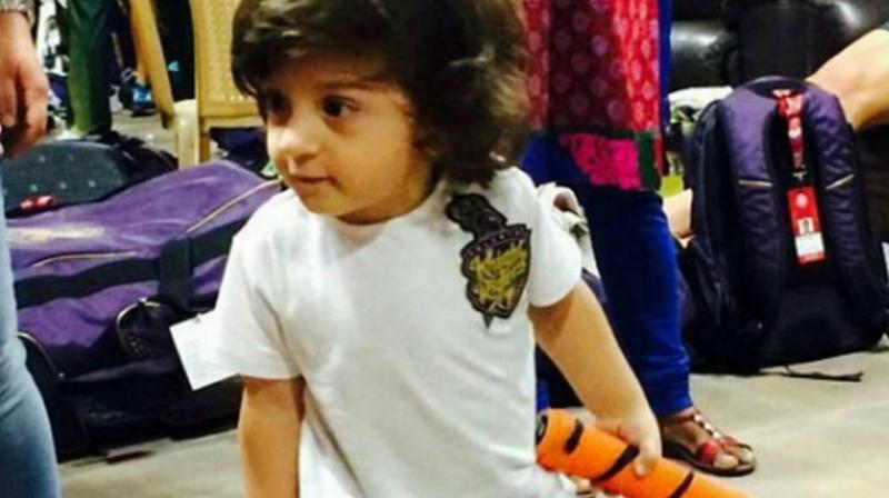 SRK's kid is the epitome of cuteness and he steals the thunder with his adorable antics.