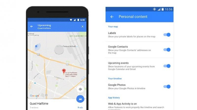 Google's latest update to its Maps application integrates Calendar to give users a visual reference to their appointments. The company also states that the Gmail app and Google contacts are being integrated to provide more functionality that are tailored to the user's experience.  ( Google )