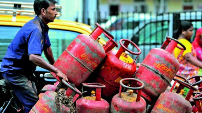 With LPG cylinder carriers on an indefinite strike in Assam, Indian Oil Corporation on Thursday said it is considering supplying 5 kg cylinders to distributors for sale at the gates of its bottling plants.