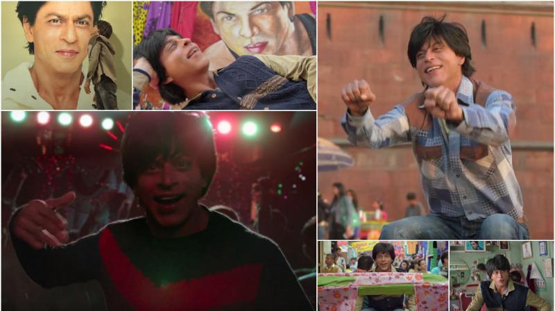 In the song, we see SRK's biggest fan dancing passionately. (Stills from the song)