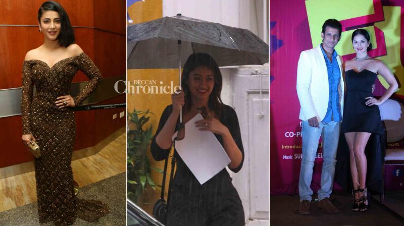 Shruti Haasan, Ileana D'Cruz, Sharman Joshi, Sunny Leone, Harshvardhan Kapoor, Saiyami Kher were snapped at various events in the city. (Photo: Viral Bhayani)