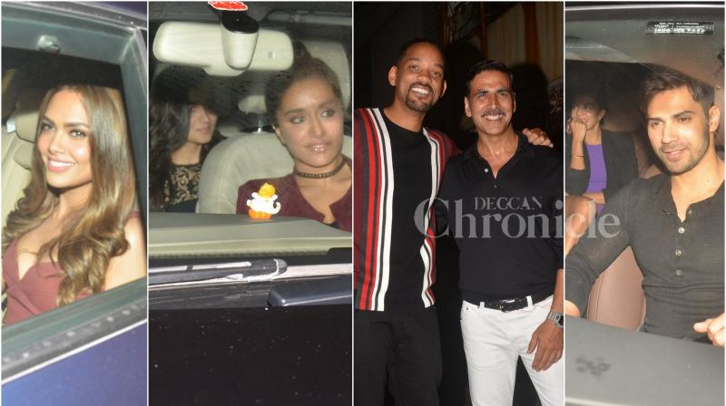 Sunday night saw a lot of action go down at Akshay Kumar's house in Mumbai when A-list Bollywood actors were spotted partying with Hollywood star Will Smith. (Photo: Viral Bhayani)