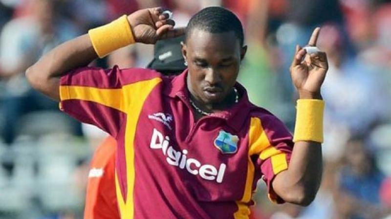 West Indies cricketer Dwayne Bravo launched his official ICC World Twenty20 anthem in Mumbai recently. (Photo: AFP)
