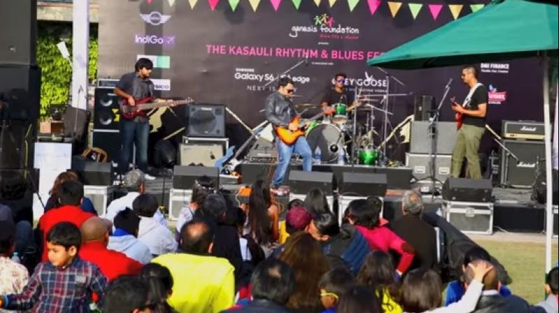 A music band performing at the Kasauli Rhythm and Blues festival 2015. (Credit: YouTube)