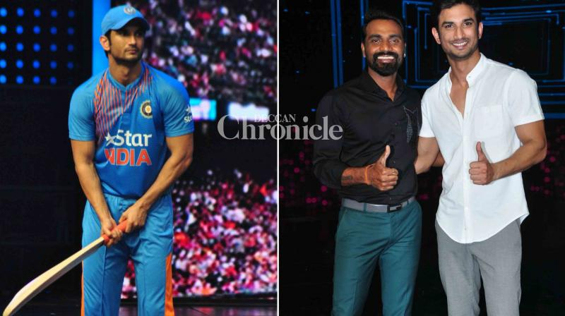 Sushant Singh Rajput is involved in intense promotions for his upcoming film 'M. S. Dhoni: The Untold Story' as he visited the sets of 'Dance Plus' and 'The Voice India Kids'. (Photo: Viral Bhayani)