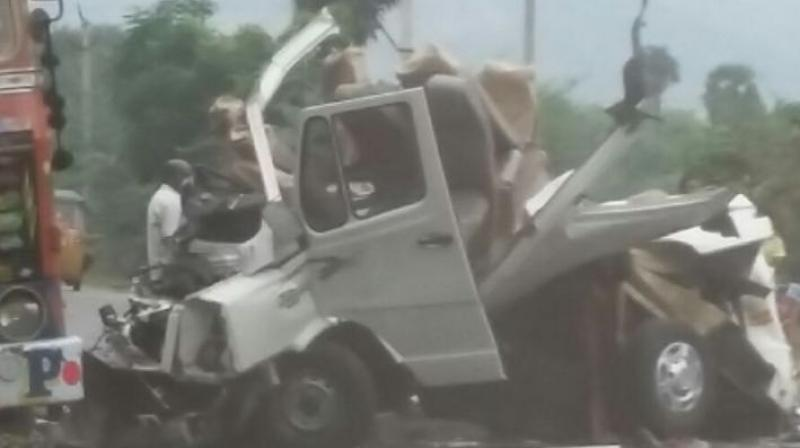 The pilgrims were on their way to Tirupati when the accident took place. (Photo: DC)
