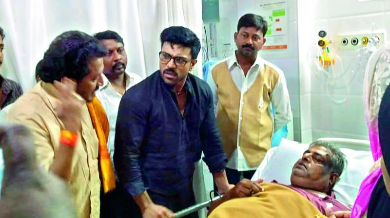 Magnificent Ram Charan Visits Ailing Fan At Hospital Hairstyle Inspiration Daily Dogsangcom