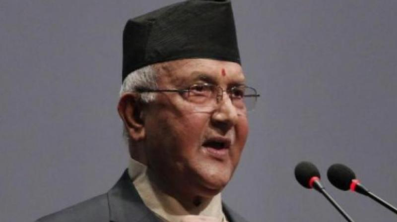 Former Nepali Prime Minister K P Oli. (Photo: AFP)