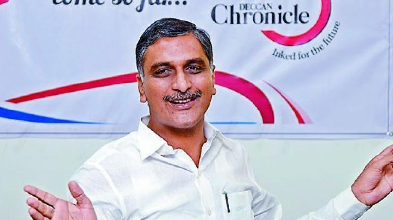 Irrigation minister T. Harish Rao (Photo: Deccan Chronicle)