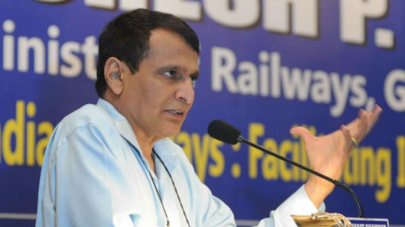 Railway Minister Suresh Prabhu during presentation of the Rail Budget 2016-17.