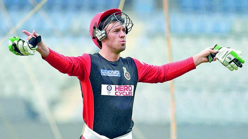 RCB batsman AB de Villiers.