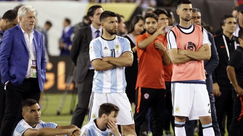 Aguero, who scored 21 Premier League goals in 33 appearances for Manchester City this season, has been in international exile since after last year's World Cup in Russia, when Argentina crashed out in the last 16.  (Photo: AP)