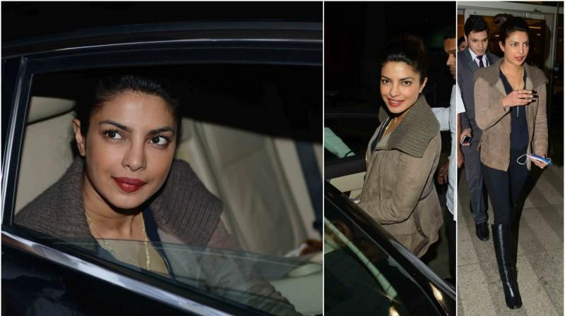 Bollywood's desi girl Priyanka Chopra has returned back to the country after wrapping up the shoot for the first season of her American sitcom Quantico. (Photo: Viral Bhayani)