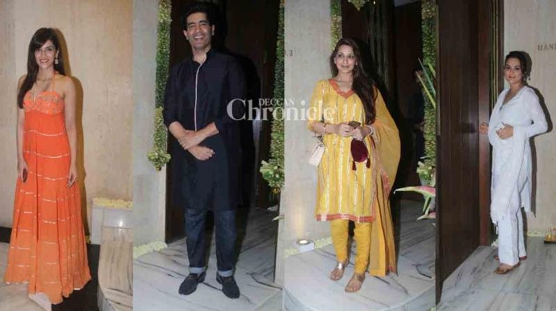 Several Bollywood celebrities like Kriti Sanon, Preity Zinta, Sonali Bendre, Kartik Aaryan, Kanika Kapoor, Punit Malhotra arrived at Manish Malhotra's house to pray to his Ganpati. (Photo: Viral Bhayani)