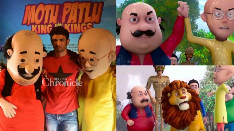 Watch Sushant Singh Rajput Launches Motu Patlu 3d Trailer