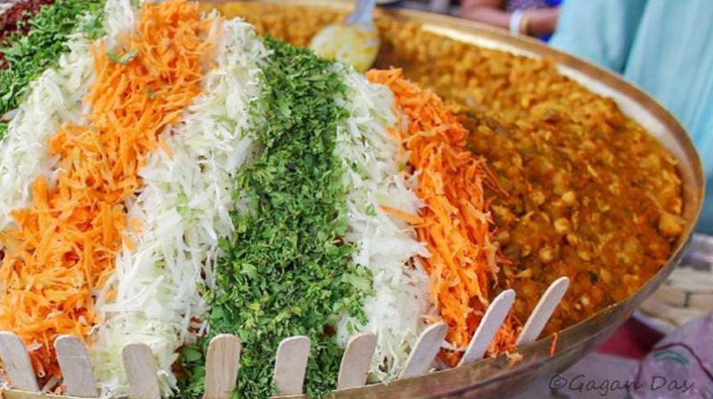 Vivid colours of the tricolour can be seen in streetfood that always brings Indians together (Photo: Instagram/g.n.das)