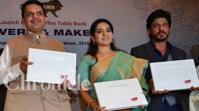 Shah Rukh was speaking at the launch of BJP leader Shaina NC's coffee table book, 'Movers and Makers' which is a tribute to Make in India.