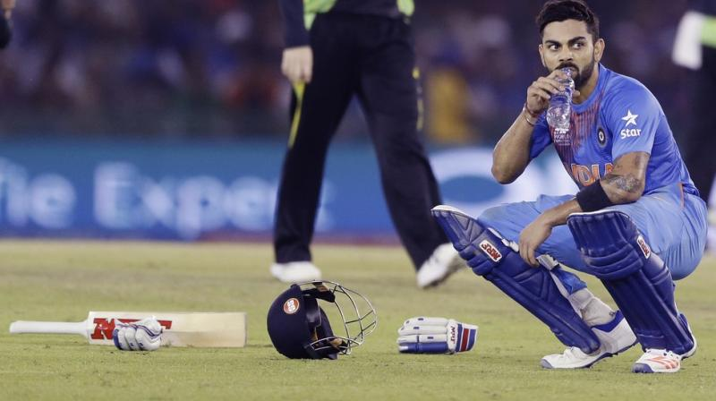 Virat Kohli remained unbeaten on 82 off 51 balls to guide India to the semifinal of the ICC World Twenty20. (Photo: AP)