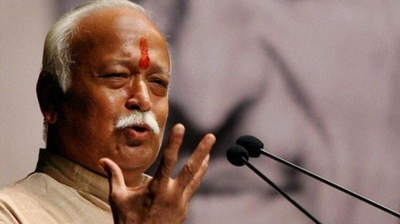 In a message on the RSS' Twitter account, Bhagwat said Sharma's death was very painful, but his sacrifice also inspires the Sangh. (Photo: PTI/File)
