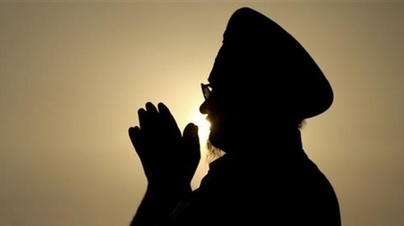 Devotee praying