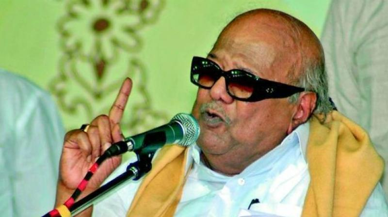 DMK supremo M Karunanidhi (Photo: PTI)