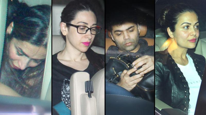 Anytime is party time for Kareena Kapoor and her girl gang- Karisma Kapoor, Malaika and Amrita Arora, that the four met up at the actress' house last evening. Good friend Karan Johar also joined the gang for the impromptu meet. Photo: Viral Bhayani