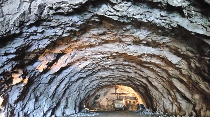 Tunnel work in progress at Kuthiran mountain.