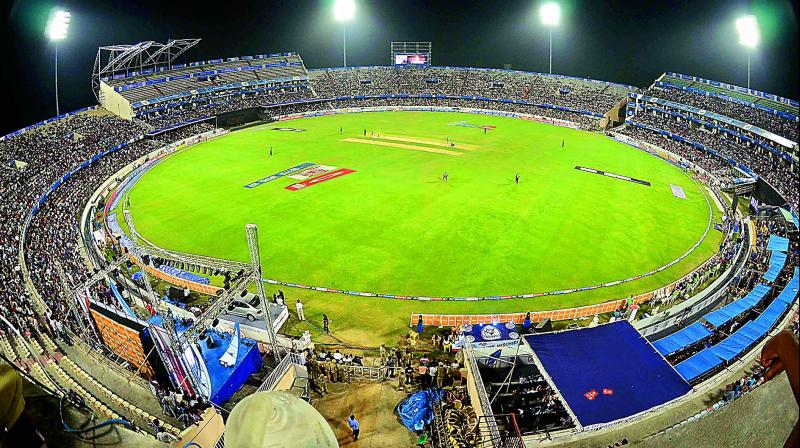 A file photo of the uncovered stands at the Rajiv Gandhi International Cricket Stadium in Hyderabad. (Representational Image)