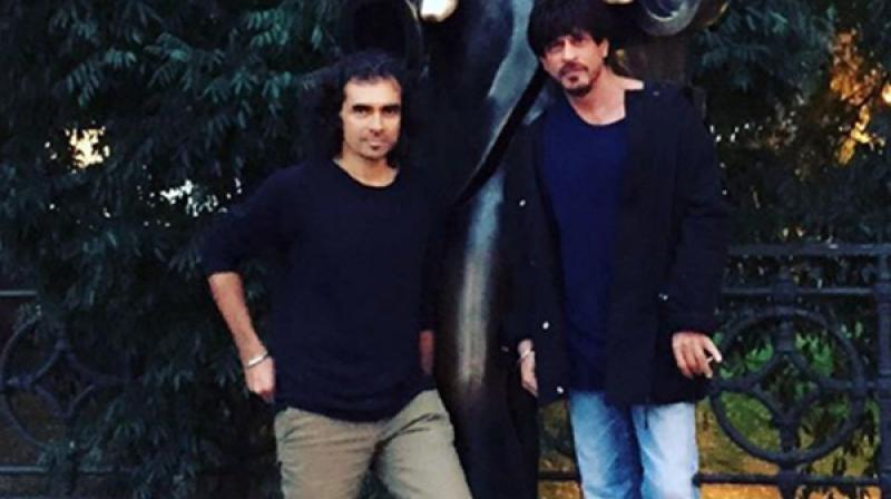 Shah Rukh Khan snapped with Imtiaz Ali.