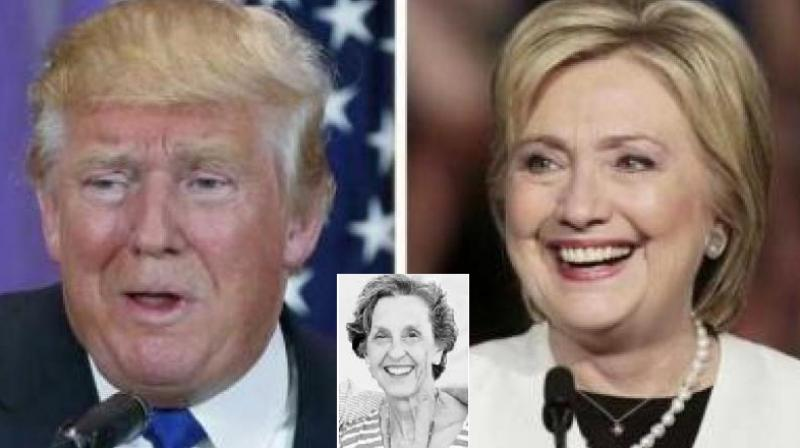 Donald Trump and Hillary Clinton are locked in a bitter battle for the top US post. (Photo: AFP/ Inset of Mary Anne Noland of Richmond)