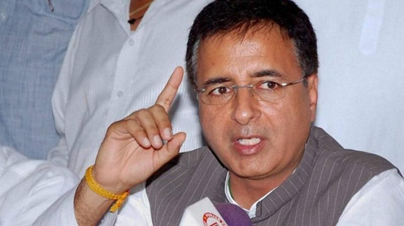 Congress' chief spokesperson Randeep Surjewala will be party's nominee for Jind bypoll. (Photo: File | PTI)