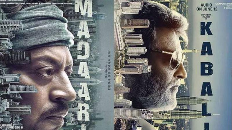 """Actor Irrfan Khan has claimed that the makers of megastar Rajinikanth's film 'Kabali' have stolen their poster idea from the Bollywood star's upcoming thriller 'Madaari'. Talking about the similarities, Irrfan said, """"We are small filmmakers, I saw that Rajinikanthji's film stole the poster of our film. You see his film's poster and see our film's poster. No big deal about it. Watch his film and watch our film, too."""