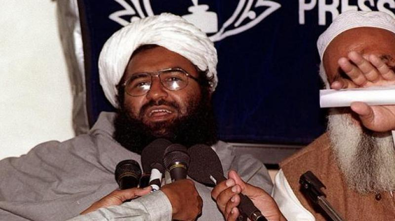 Maulana Masood Azhar, head of the JeM addressing a press conference in Karachi. (Photo: AFP/File)