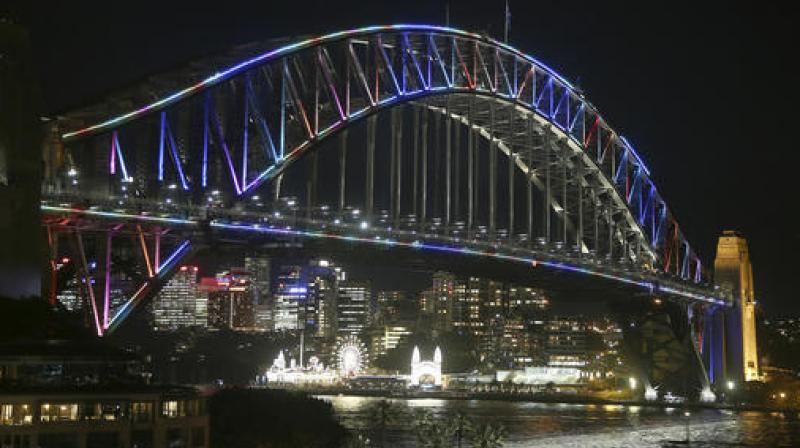 Security on the bridge was boosted in 2011 after a man paralysed rush-hour traffic for hours by scaling it to hang two banners in a protest linked to a custody dispute over his children. (Photo: AP)