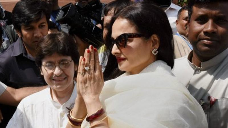 Rekha had come under criticism from her fellow members in the Upper House last year when they had pointed to her long absence. (Photo: PTI)