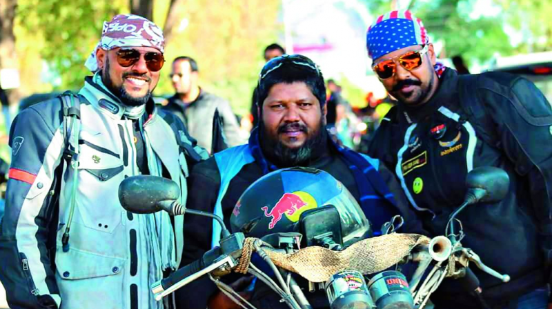 """ON SOCIAL MEDIA: """"When all over India riders are giving tribute to legendary rider Mohd Suhail Muneer by doing rides, I have decided to pay my respect to the rider brother from another mother — on behalf of our Royal Riders Club Jodhpur — by doing a solo ride from Jodhpur to Balesar,"""" wrote Sarup Roy."""
