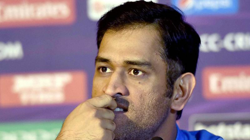 India skipper MS Dhoni was asked how satisfied was he with the result, keeping in mind that India needed to win it big to improve their net run-rate for brightening the semifinal prospects. (Photo: PTI)