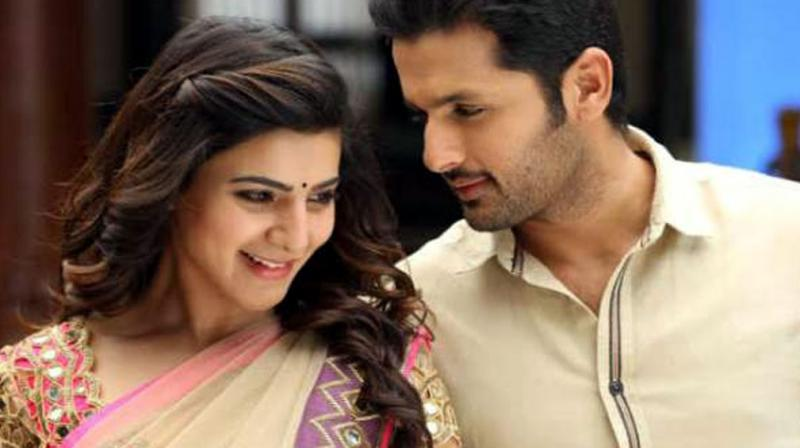 The chemistry between Nithiin and Samantha in'A.. Aa..' is palpable.